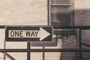 One Way Straßenschild